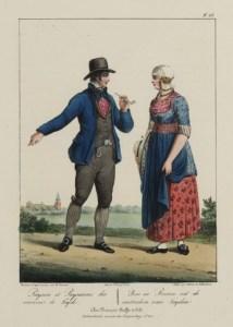 Rijnlandse boer en boerin, 1829